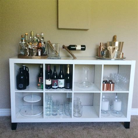 Ikea Hack: Expedit Bar with Legs | Ikea bar, Bars for home
