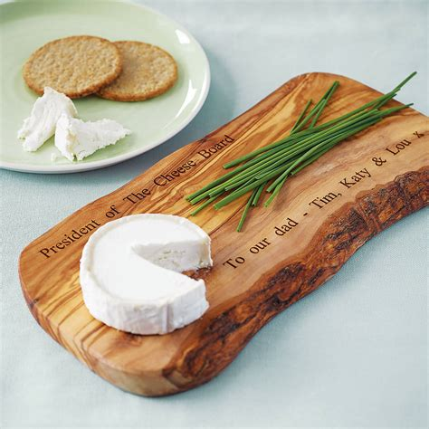 Personalised Olive Wood Cheese Board By The Rustic Dish