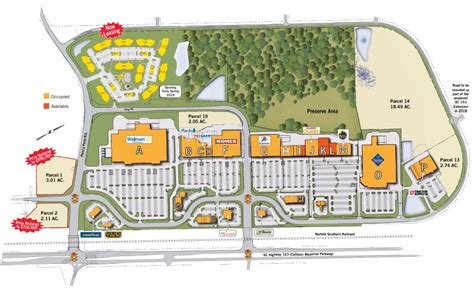 Easley Town Center - store list, hours, (location: Easley