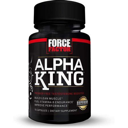 Force Factor Alpha King Total Testosterone Booster with